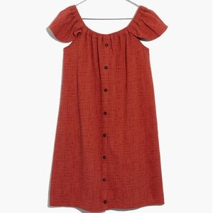 Madewell Texture & Thread Off the Shoulder Dress